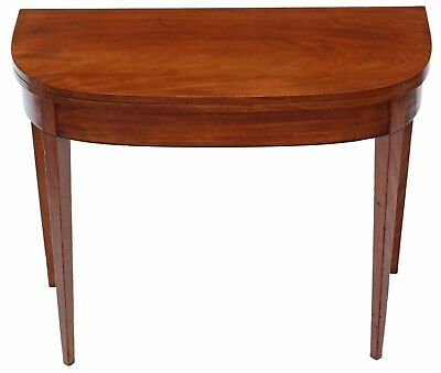 Antique Georgian C1810 mahogany folding card tea console table