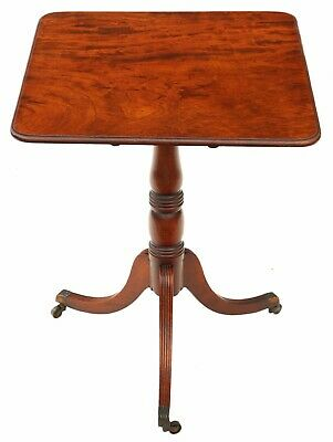 Antique fine quality Regency plum pudding mahogany tilt top supper table side