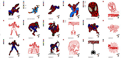 Spiderman Marvels Machine Embroidery Pattern Designs - Pes & Hus On Cd