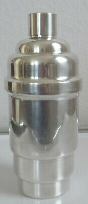 Beautiful French ART DECO Cocktail Shaker in stepped design silverplated model