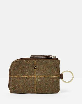 Joules Womens Everleigh Tweed Coin Purse - BROWN TWEED in One Size