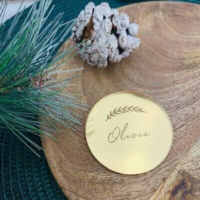 Gold Mirror Christmas Tree Decoration, Gold Name Places, Party Names