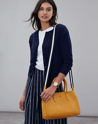 Joules Womens Thernwell Bright Faux Leather Grab Bag - ANTIQUE GOLD in One Size