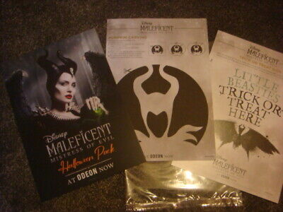 Official Odeon Disney Maleficent Halloween Pack, Poster NEW freepost in the uk