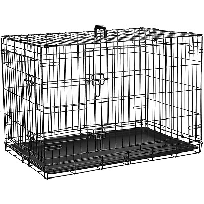 Dog Cage Puppy Training Crate Pet Carrier - Small Medium Large XL XXL Metal
