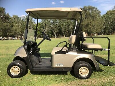 2014 Ezgo Golf Cart 4 Seat Tray Back Can Freight Has New Batteries