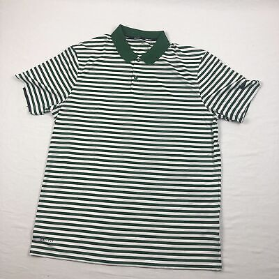 NEW Nike - Men'sGreen/White Striped Dri-Fit Polo Shirt (Multiple Sizes)