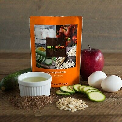 Real Food Blends Eggs, Apples & Oats 12 Pouches