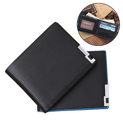 Mens Luxury Soft Quality Leather Wallet Credit Card Holder Purse Black