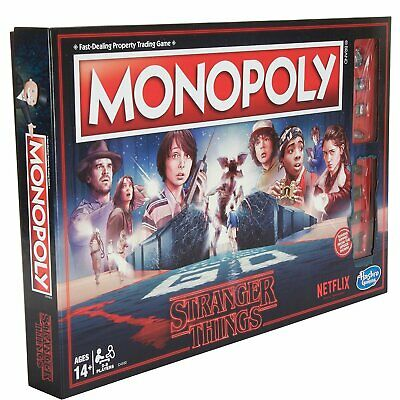 Hasbro Netflix Monopoly Board Game Stranger Things Edition