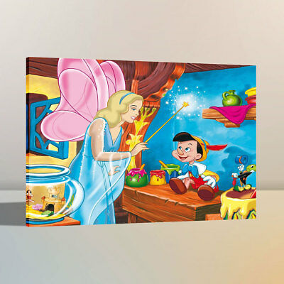 """Disney Pinocchio Paintings HD Canvas Print 24/""""x36/"""" Home Decor Wall Art Pictures"""