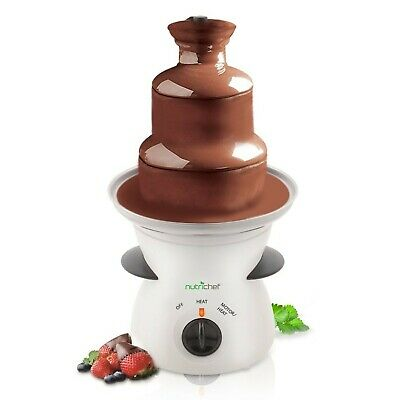 3 Tier Chocolate Fondue Fountain - Electric Stainless Choco Melts Dipping War...