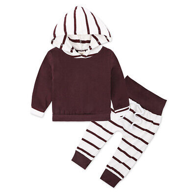 2pcs Kids Baby Girls Long Sleeve Pullover Sweatshirts Casual Tops+Pants Outfits