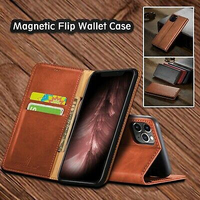 iPhone 11 Pro Max Leather Magnetic Flip Wallet Cards Case Shockproof Cover