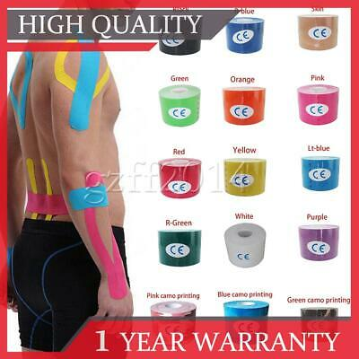 2pc 5cm*5m Kinesiology Tape   Sports Physio Knee Shoulder Body Muscle Support UK
