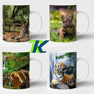 TIGER and PERSONALISED GIFT coffee mug with own text tea cup brithday christmas