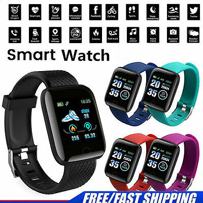 Bluetooth Smart Watch pour Android iPhone fréquence Cardiaque Pression Sanguine
