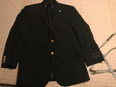 NWT Jos. A Banks Superfine Executive Collection Solid Black Jacket 41R $450 Wool