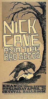 "Reproduction ""Nick Cave & The Bad Seeds - Crystal Ballroom"" Poster, 12"" x 24"""