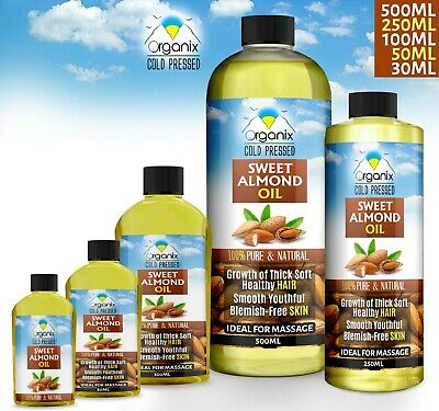 100% Pure Sweet Almond Oil Natural Massage Carrier Cold Pressed (Best Quality)