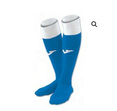 10 X Pairs of Joma Calcio Royal/White Football Socks Adult 7 to 12 SPECIAL PRICE