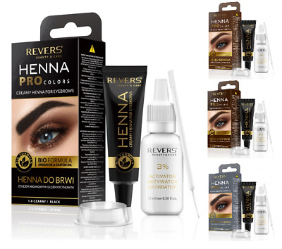 Revers Cosmetics Pro Colors Eyebrow Henna With Argan & Castle Oils