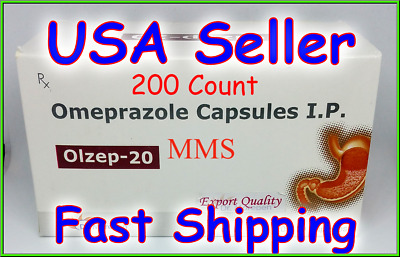 **SHIPPING TODAY** Omeprazole 200 ct Capsules Heartburn Acid Reducer OTC 20mg