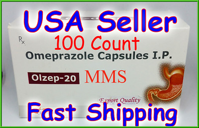 **SHIPPING TODAY** Omeprazole 100 ct Capsules Heartburn Acid Reducer OTC 20mg