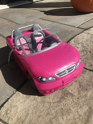 Barbie Pink Glam Convertible Sports Car By Mattell, 2011