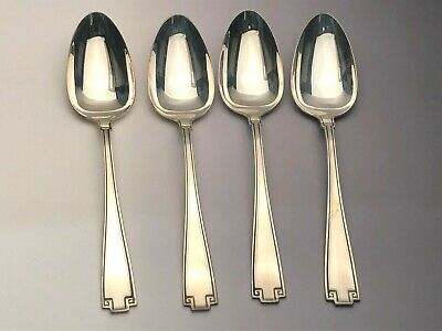 """Etruscan by Gorham Sterling Silver set of 4 Oval Soup Spoons 7"""""""