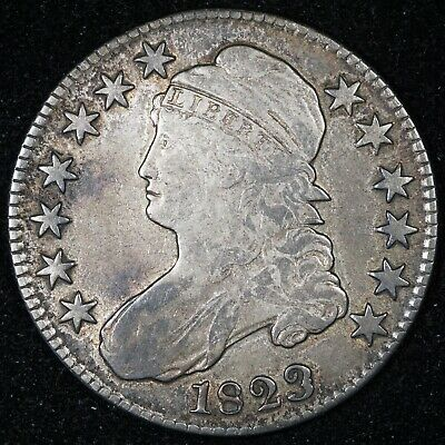 1823 Capped Bust Half Dollar Patched 3