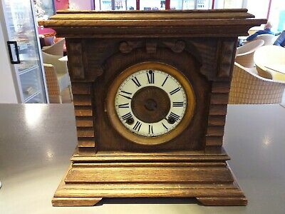 ANTIQUE american NEW HAVEN / YORK carved mantle mantel clock STAMPED ANSONIA