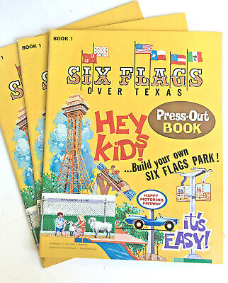Six Flags Over Texas > Collector's 3D Theme Park Attractions > Punchout Book