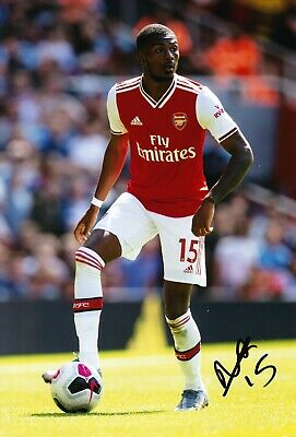 Ainsley Maitland-Niles Signed 12X8 Photo Arsenal F.C. AFTAL COA (1404)