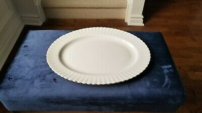 """Royal Albert Val d'Or Bone China 13"""" serving platter!! MINT! MADE IN ENGLAND!"""