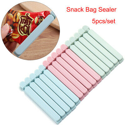 Practical Candy Color Kitchen Tool Snack Bag Sealer Sealing Clamp Food Clips