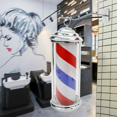 Barber Shop Pole Spinning Rotating Salon Sign Light Hair Cutting Neon Licht HOT