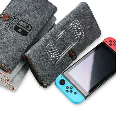 Portable Travel Bag Carrying Case Felt Pouch Storage Bag for Nintendo Switch Hot