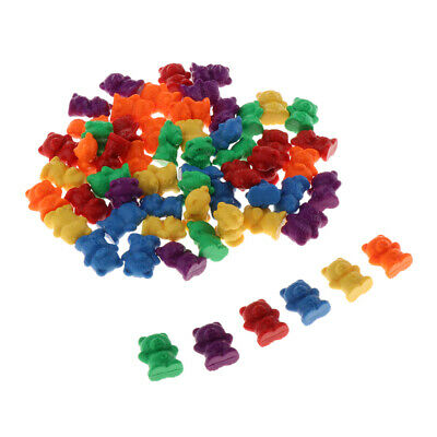 Bear Counters for Maths 300 pcs Different Colours Counting Markers Pieces