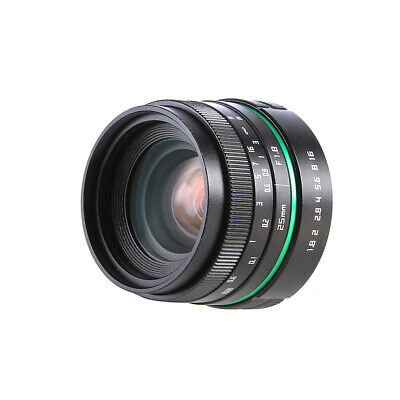 25mm F1.8-F16 MF Wide Angle Movie Lens for Canon EOS EF 80D 7D 60D 600D 750D