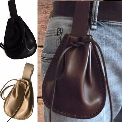 UK Medieval Viking Leather Purse Pouch Renaissance Pirate Bay Larp Cosplay Props