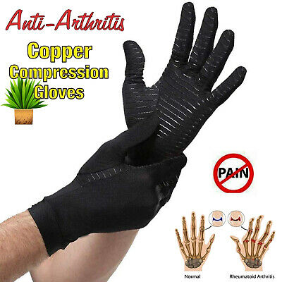 Copper Compression Arthritis Gloves Hand Support Brace Muscle Tension Relieve AU