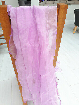 BEST QUALITY 71 X (3532) Lavender Sparkle Organaza Wedding Chair Sashes UK sell