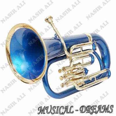 NEW BUZY DEMAND EUPHONIUM Bb PITCH BLUE COLORED FOR SALE WITH FREE HARD;