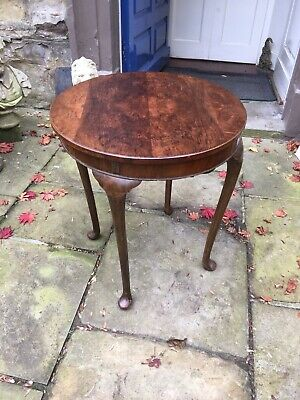 Victorian walnut fold over games table or occasional table with green baize