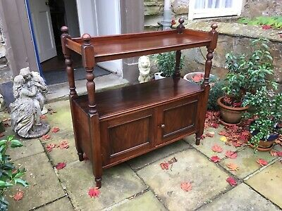 Victorian mahogany dumb waiter or buffet or side cabinet