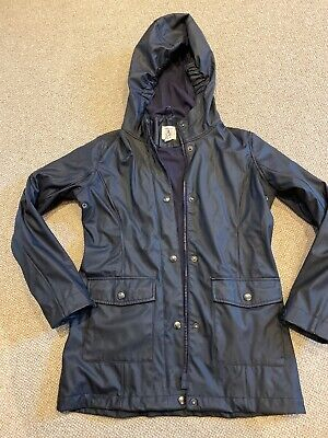 Lands End Girls Raincoat Age 10-11 Navy