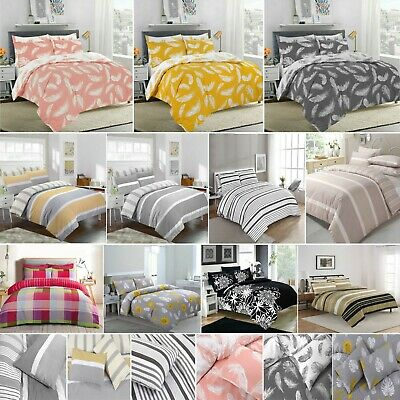 Winters & Christmas Print Duvet Quilt Covers Bedding Set & Pillowcases All Sizes