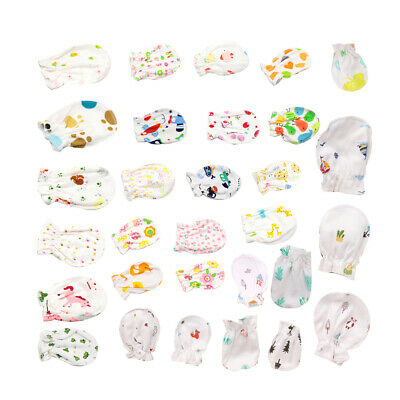 6pcs//Set Newborn Baby Infant Soft Cotton Handguard Anti Scratch Mittens Gloves