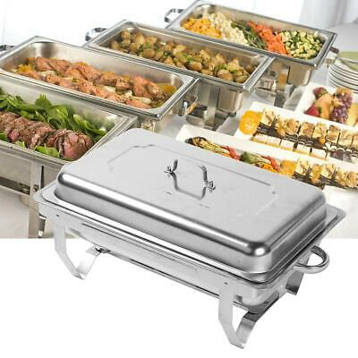 4X Buffet Server Food Warmer Tray Hot Cookware Restaurant Party Stainless Steel